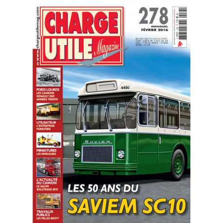 CHARGE UTILE N°278